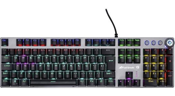 Teclado Gamer Mecânico Fortrek K7 Rainbow 22 Efeitos Led