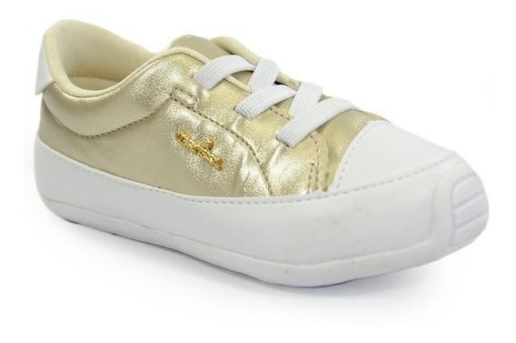 Sapatênis Marisol Dourado Branco - 10309349