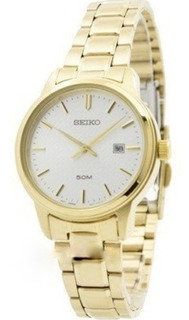 Reloj Seiko Sur744 Dama Acero Dorado 50m Garantía Oficial
