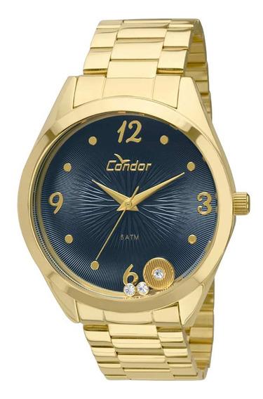 Relógio Condor Feminino Dourado Aço Analógico Co2036kot4a