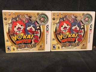 Yo-kai Watch 2 Fleshy Souls Caja Abierta ( Open Box Nuevo )