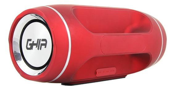 Bocina Bluetooth Bx300 Ghia Roja / Tws /12w X 2/ Aux / Radio