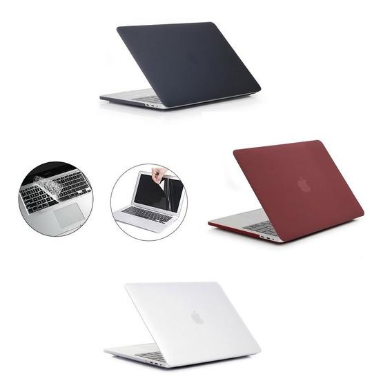 Capa Case Macbook Pro Air 13 Retina + 2 Películas Proteção