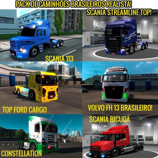 Euro Truck Simulator 2 1.35 Mod Mapa Brasileiro E Caminhões