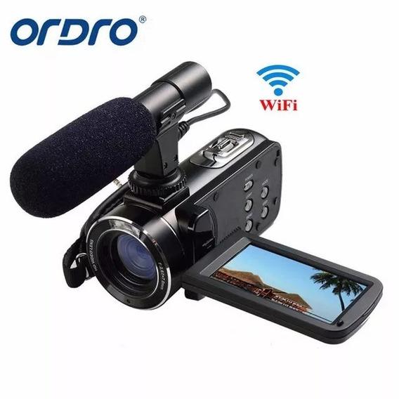 Câmera Digital,ordro,com Entrada Para Microfone Externo Hd