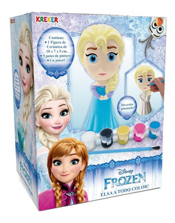 Frozen Figura Elsa Para Pintar Con Pinceles Y Pintura Kreker