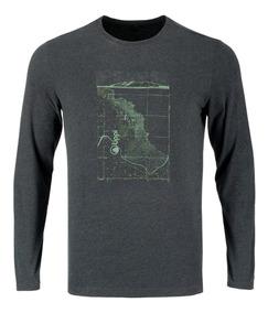 Polera Hombre Lippi Coordinate Long Sleeve Cotton T-shirt Gr