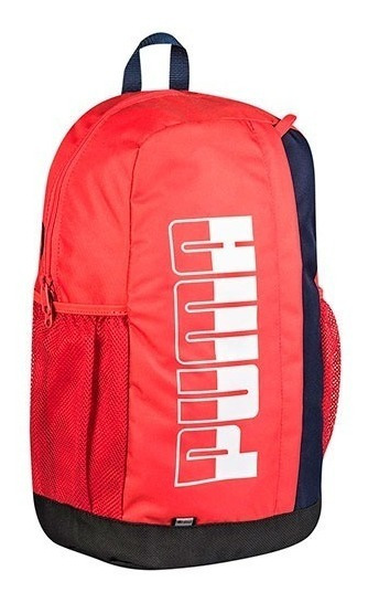 Mochila Puma Plus Backpack 075749-03 Rojo Marino Unisex Oi