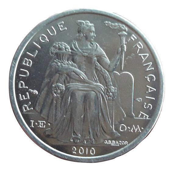 Polinesia Francesa Moneda Del Año 2010 De 2 Francs - Sin Circular