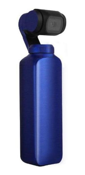 Capa Protetora Em Adesivo Metálico Azul Para Dji Osmo Pocket