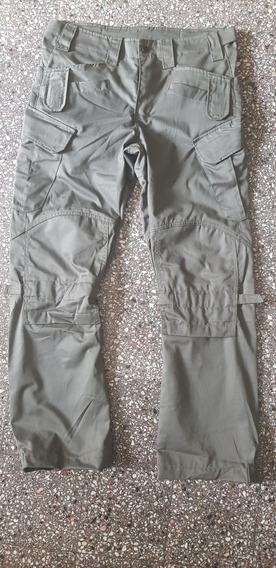 Pantalon Tipo Cargo Ripstop Negro Y Verde M L Y Xl Ajustab