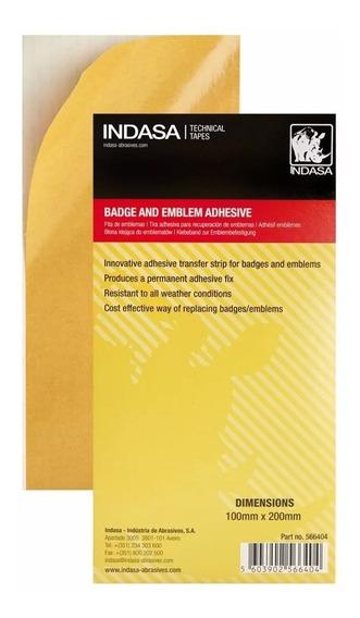 Folha Adesivo Para Colar Fixar Emblemas - Indasa - 10x20cm