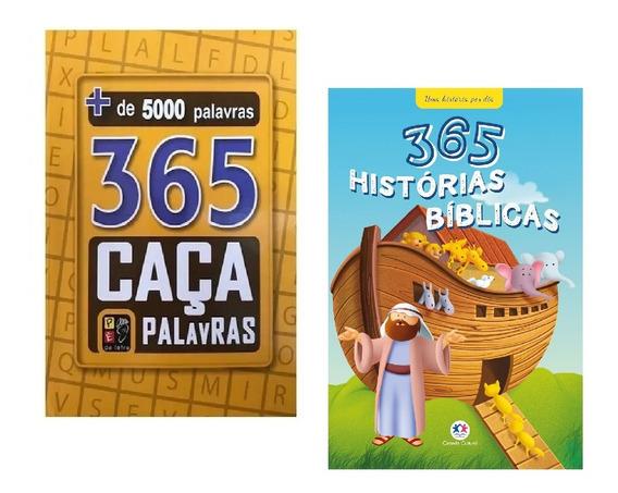 Livros 365 Caça-palavras + 365 Palavras Cruzadas Bíblicas