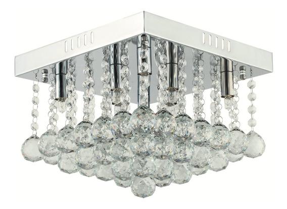 Lustre Sala Moderno Plafon De Cristal Quadrado 30x30 Inl05