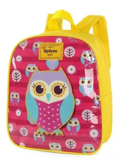 Mochila Infantil Feminina Coruja Up4you- 31951