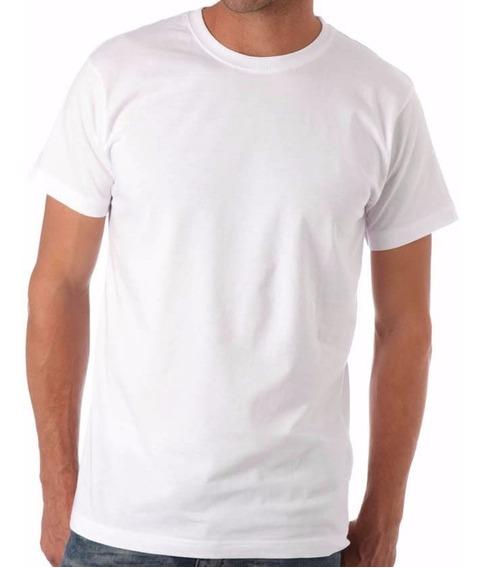5 Camisetas Brancas Masculinas Básicas Algodão 30/1 Premium