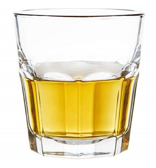 Set De 4 Vasos Lisboa Whisky 344cc