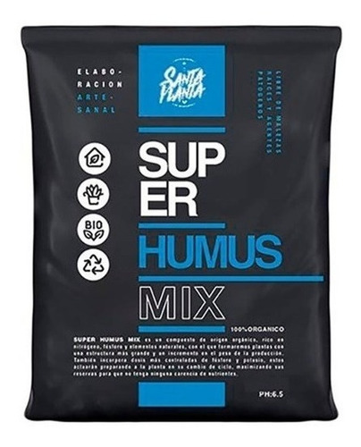 Super Humus Mix 2 Dm3 Lombriz Cultivo Santa Planta Sustrato