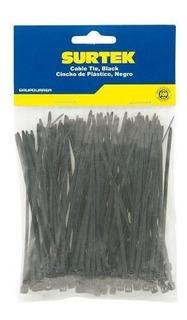 Cincho Plástico 165 X 2.5mm100 Piezas Negro 114203 Surtek