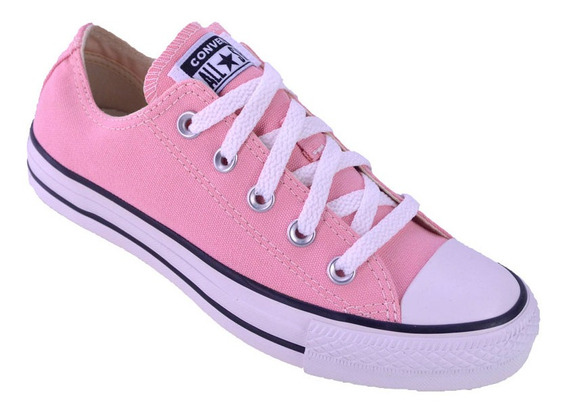 Zapatilla Converse All Star Low Lona Color Original Rosa