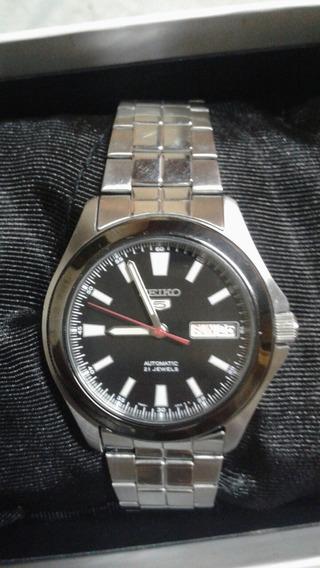 Relógio Seiko 5 Altomatico Duplo Calendário 4,2mm Fundo De C