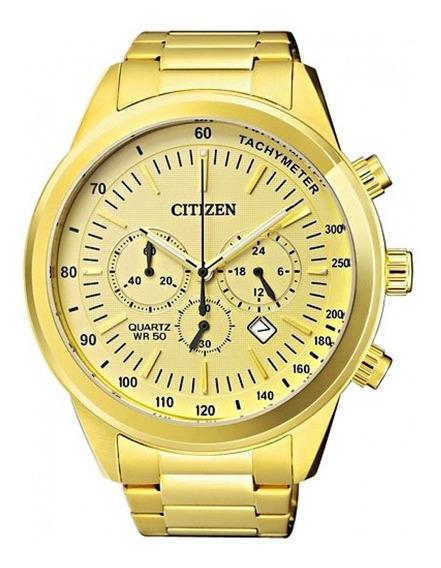 Relógio Citizen Dourado Techymeter Cronógrafo Tz30973g