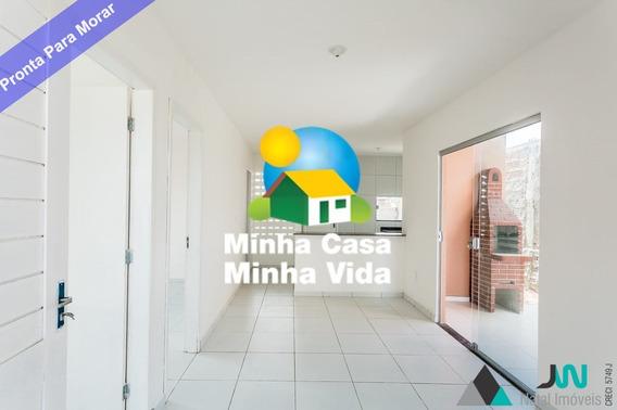 Venda De Casa Em São Gonçalo Do Amarante, Com 2 Quartos, Pronta Para Morar E Financiar De Imediato - Loteamento Santa Beatriz - Ca00104 - 33900104