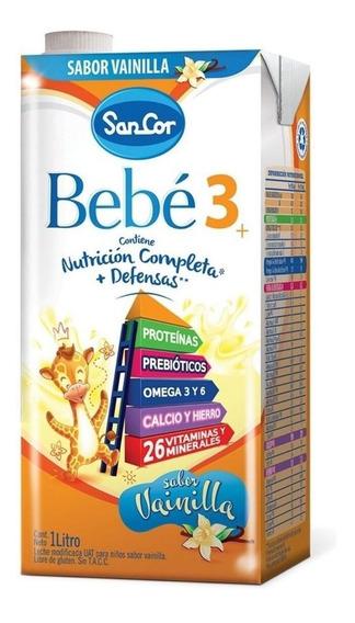 Leche de fórmula líquida Mead Johnson SanCor Bebé 3 sabor vainilla por 24 unidades de 1L