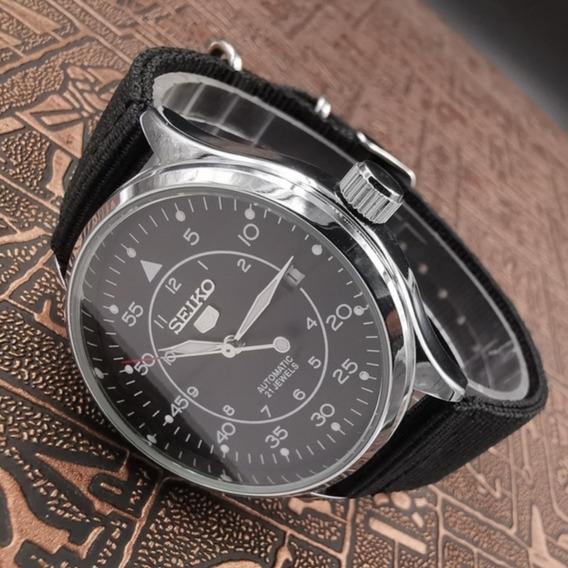 Relógio De Luxo Dos Homens Pulseira De Nylon Clássica Casual