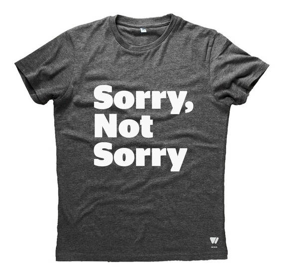 Remera Wod Hombre Con Frase Sorry Not Sorry - Crossfit