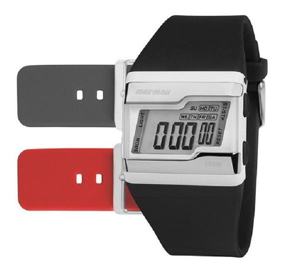 Relógio Mormaii Kit Digital Borracha Unissex Fzm/t8a