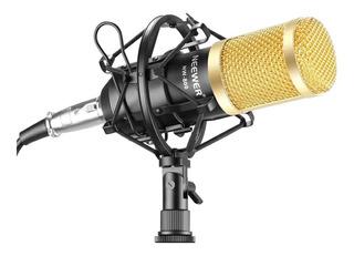 Micrófono con accesorios Neewer NW-800 condensador oro