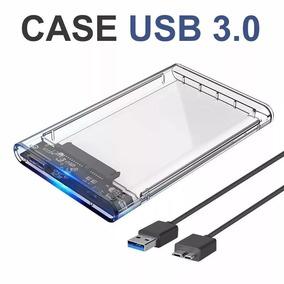 Case Hd Externo 3.0 Notebook Ssd Usb Sata 2.5 Transparente