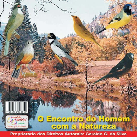 Cd Canto -de Vários Tipos -de Pássaros Cantos Oficial Vol 1