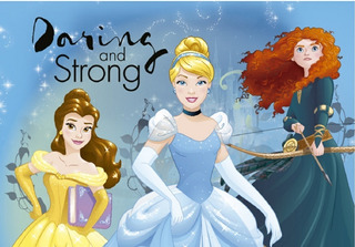 Carpeta De Alfombra Infantil Princesas Disney 1.00 X 1.40 B1