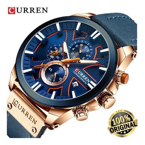 Relógio Masculino Curren Militar De Luxo Quartzo Modelo 8346
