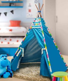 Tipi Carpa Infantil Carpita India Pijamada Azul Varios Mod