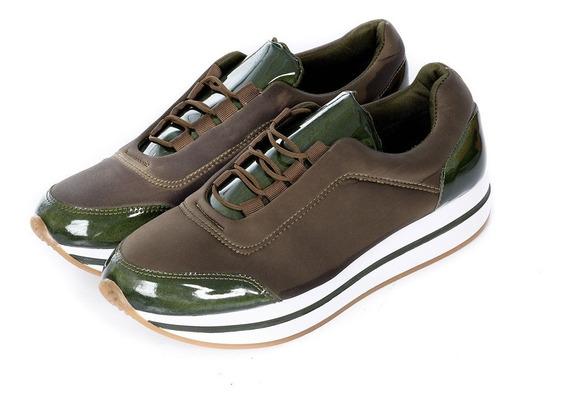 Zapatos Casual Sport Verde Militar Quest