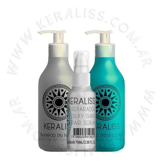 Keraliss Kit 2.6 Alisado Sin Formol + Shampoo + Serum