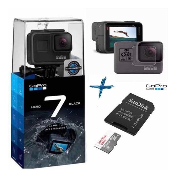 Câmera Gopro Hero 7 Black + Cartão Sandisk Ultra 64gb 100mbs