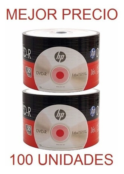 Dvd Virgen Hp Dvd-r 16x 4.7 Gb 120 Min