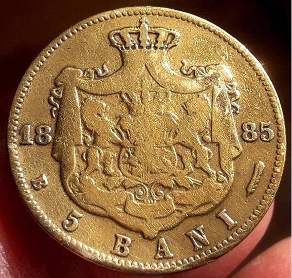 Rumania Moneda De Cobre Del Año 1885 - 5 Bani - Carol I