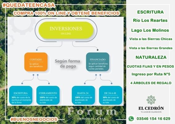 100% On Line, Compra Tu Lote En Calamuchita, El Cedron