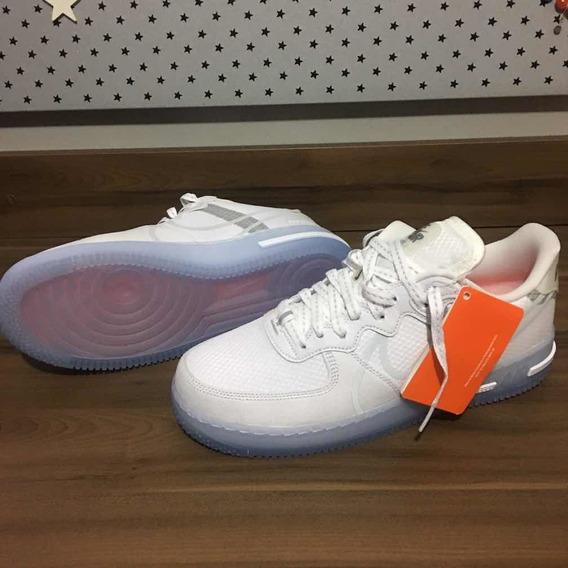 Tênis: Nike Air Force React - Light Bone
