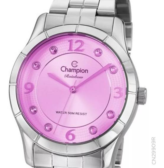 Relógio Champion Prateado Cn29909r O R I G I N A L + Nf
