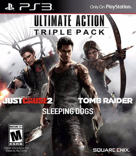 Ps3 3 Juegos En 1 Just Cause 2 + Tomb Raider + Sleeping Dogs
