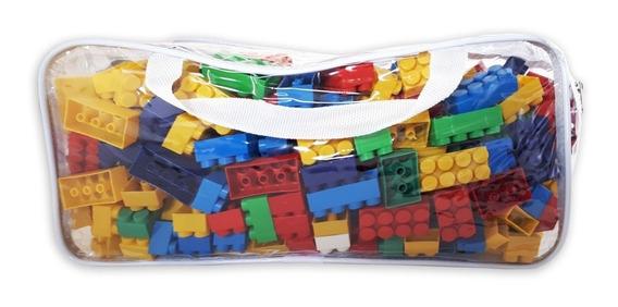 Bolsa 480 Peças Blocos De Montar Crianças Encaixe Brinquedos