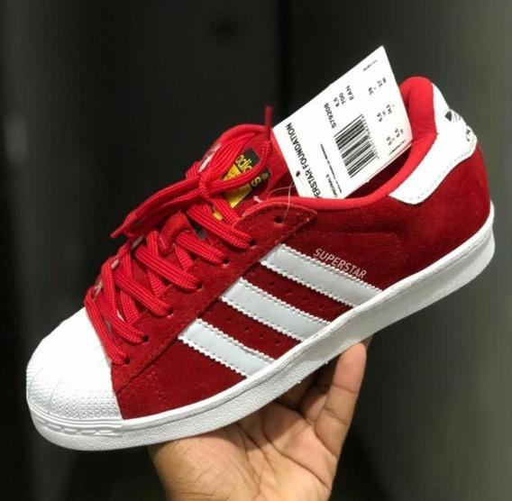 Tênis adidas Superstar Vermelho E Branco
