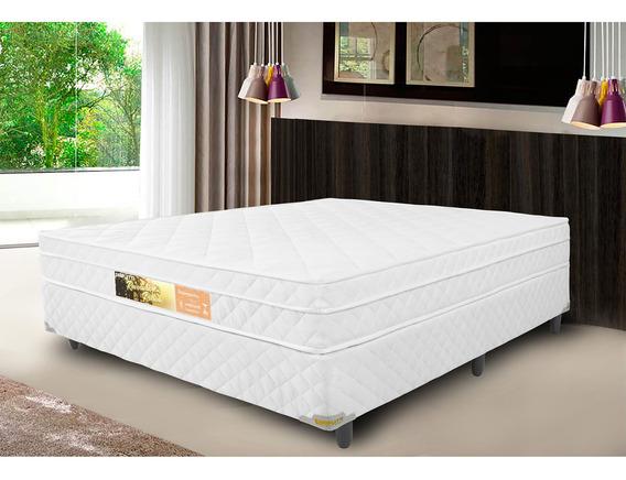 Cama Box Casal + Colchão De Molas Ensacadas Com Pillow Revolution - Branco
