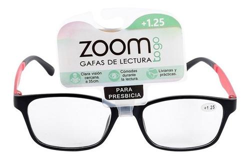 Gafas De Lectura Zoom Gbiu1b-cp-negro Con Rojo